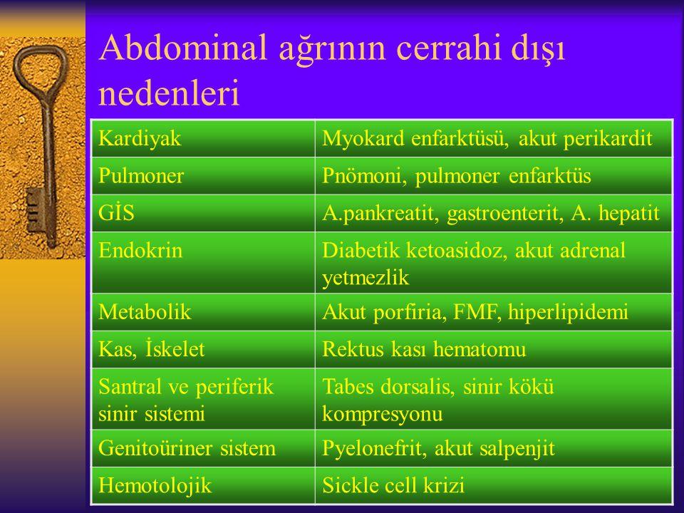 Abdominal ağrının cerrahi dışı nedenleri