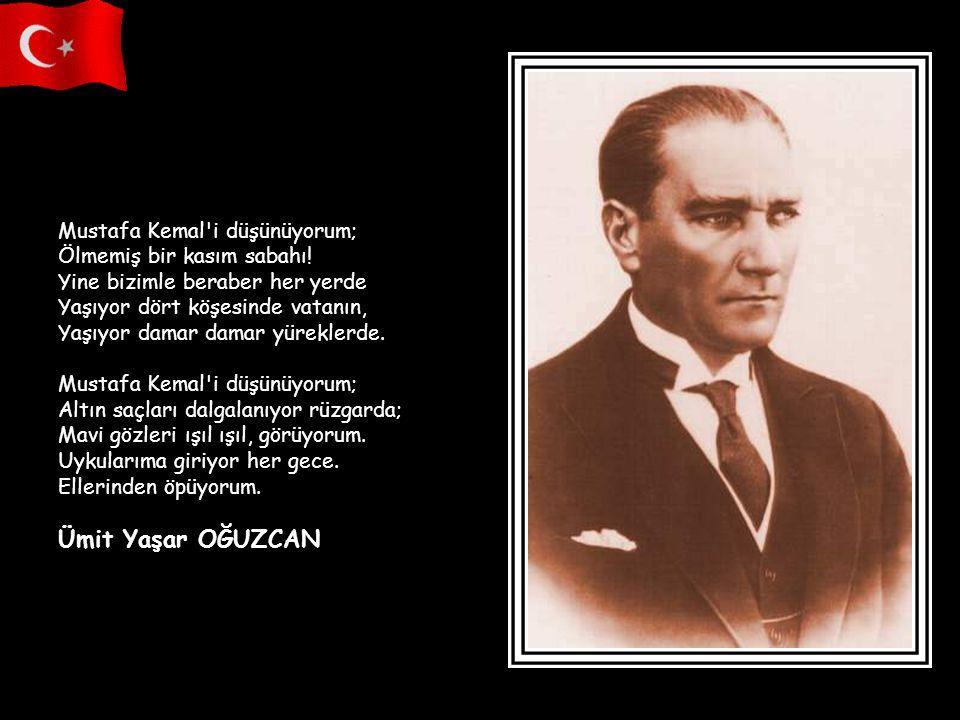 Mustafa Kemal i düşünüyorum; Ölmemiş bir kasım sabahı