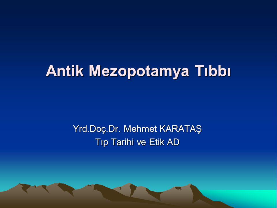 Antik Mezopotamya Tıbbı