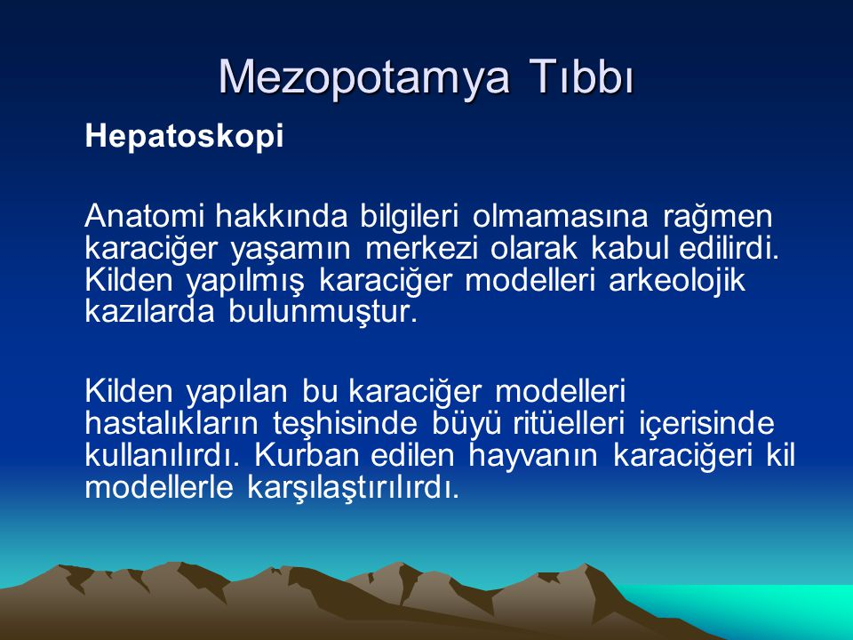 Mezopotamya Tıbbı Hepatoskopi