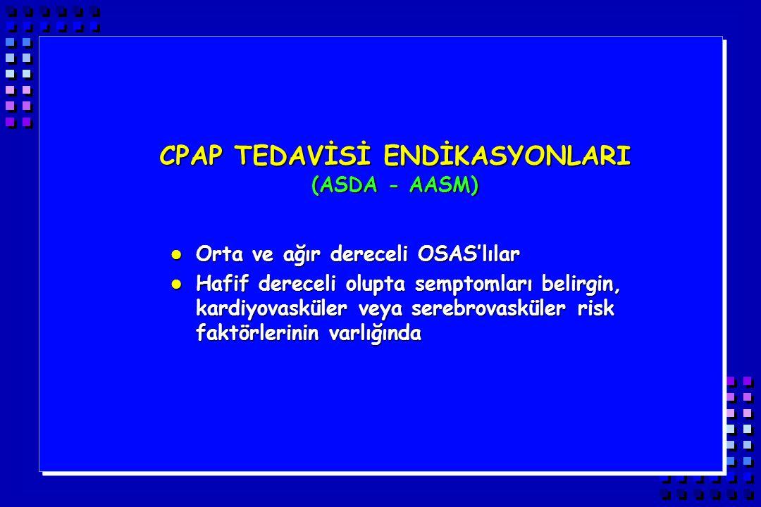 CPAP TEDAVİSİ ENDİKASYONLARI (ASDA - AASM)