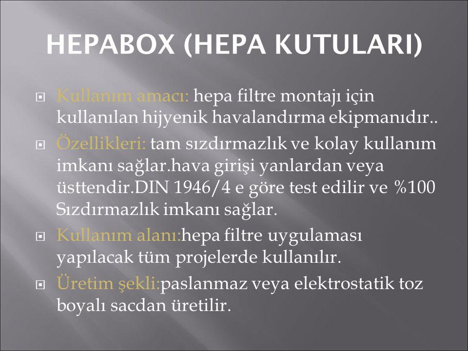 HEPABOX (HEPA KUTULARI)