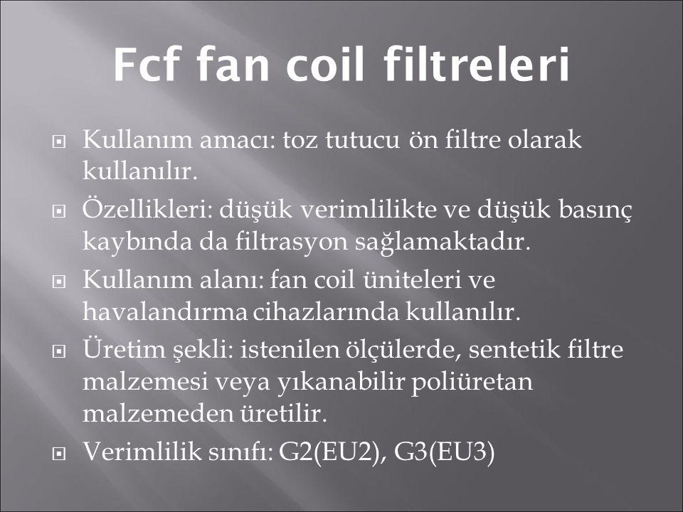 Fcf fan coil filtreleri