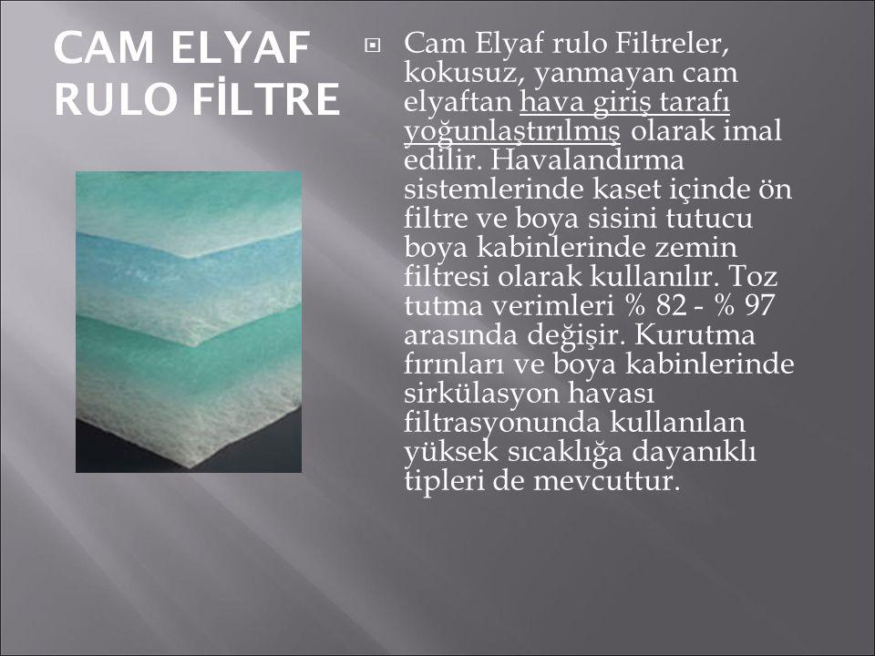 CAM ELYAF RULO FİLTRE