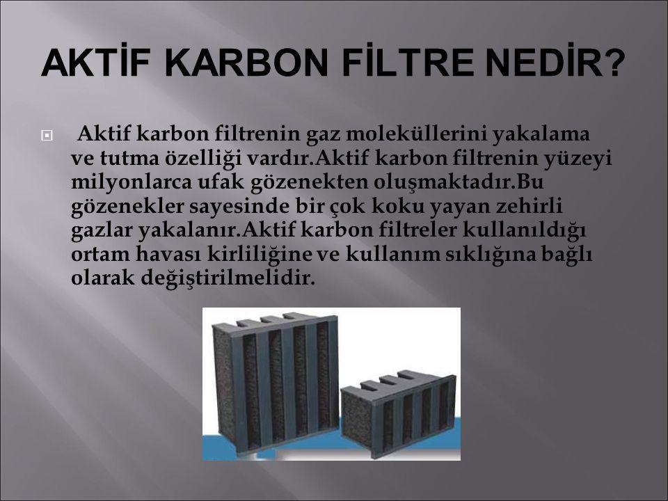 AKTİF KARBON FİLTRE NEDİR