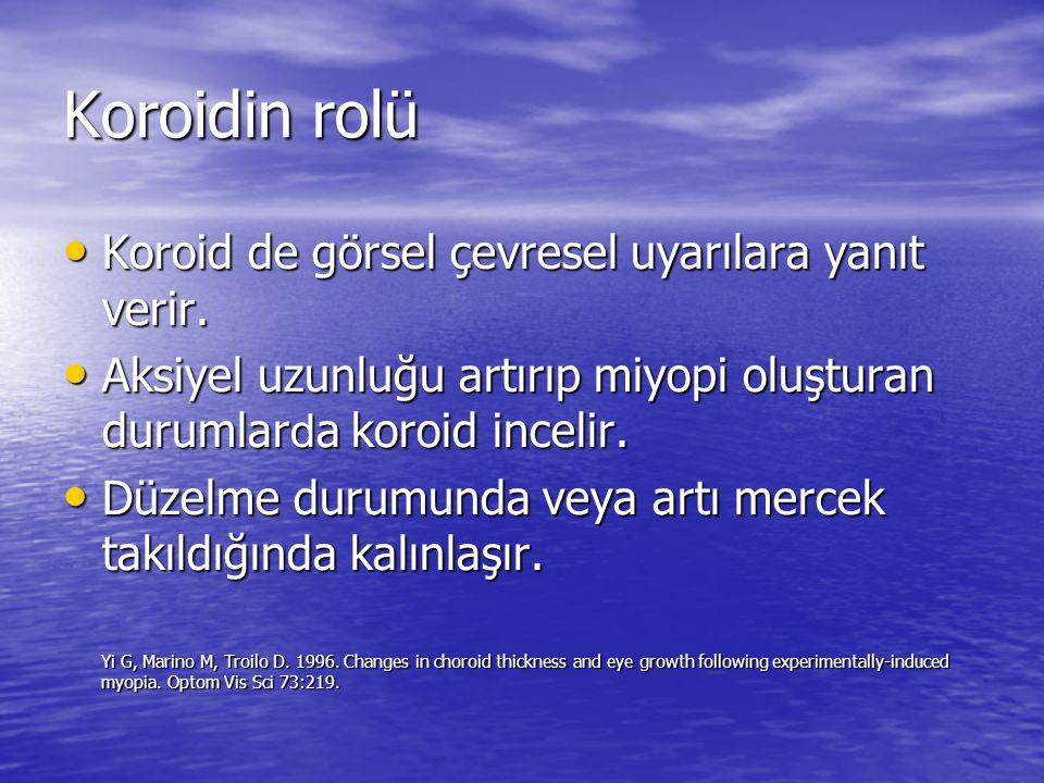 Koroidin rolü Koroid de görsel çevresel uyarılara yanıt verir.