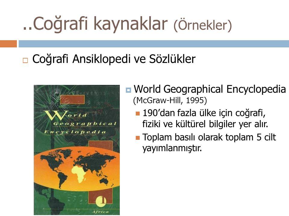 ..Coğrafi kaynaklar (Örnekler)