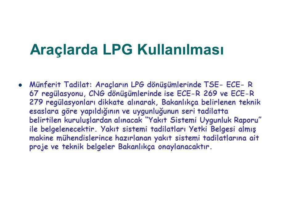 Araçlarda LPG Kullanılması