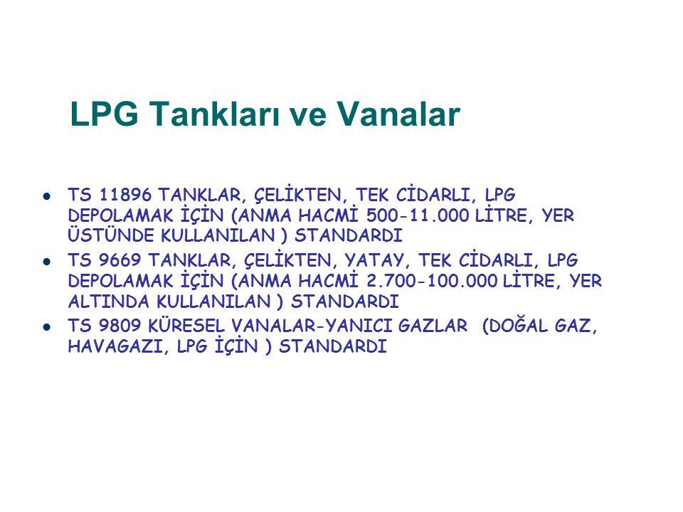 LPG Tankları ve Vanalar