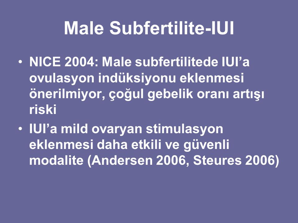 Male Subfertilite-IUI