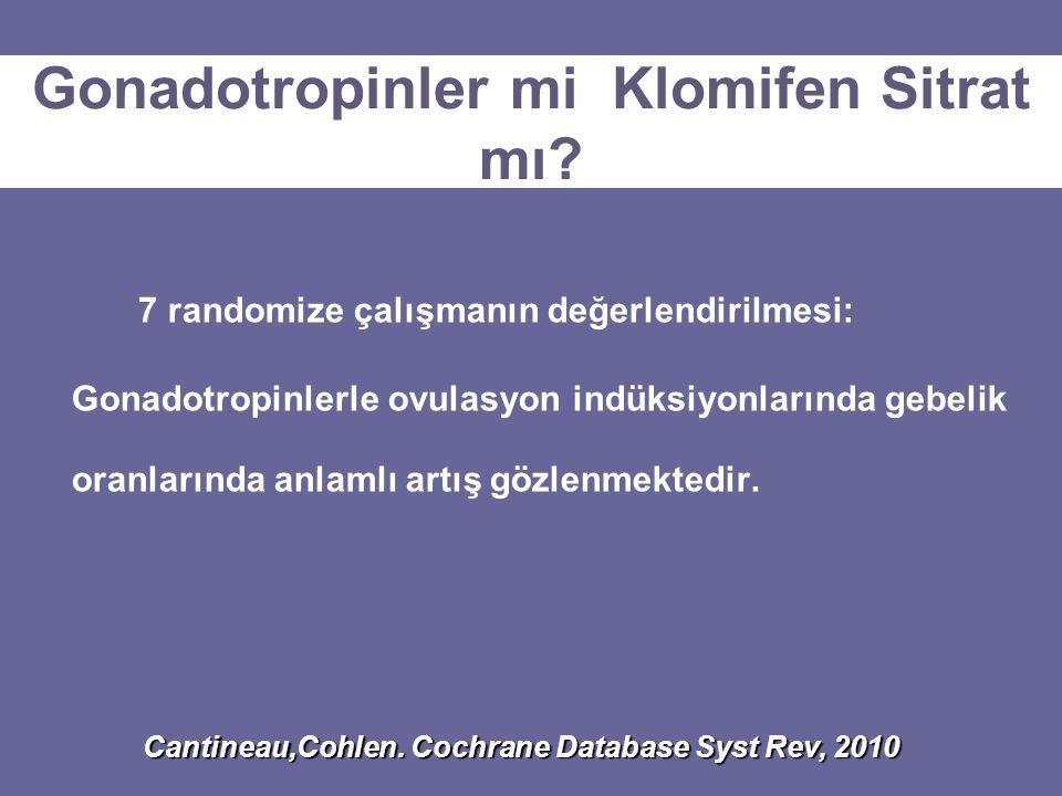 Gonadotropinler mi Klomifen Sitrat mı