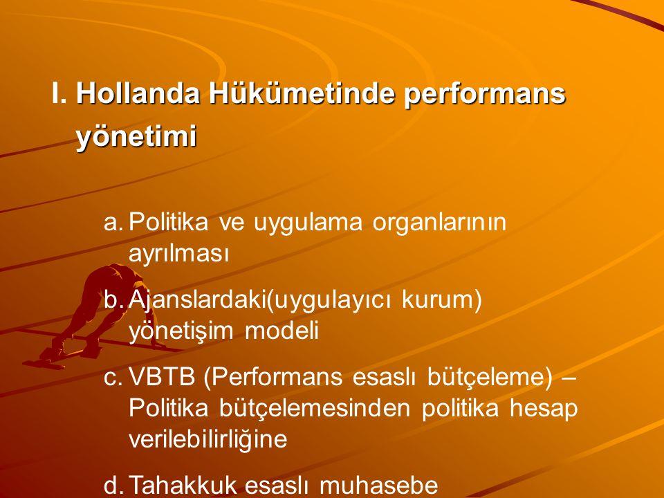 I. Hollanda Hükümetinde performans yönetimi