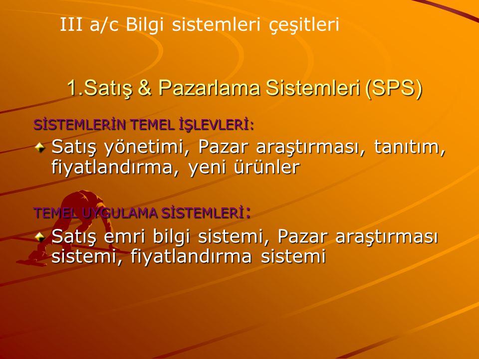 1.Satış & Pazarlama Sistemleri (SPS)