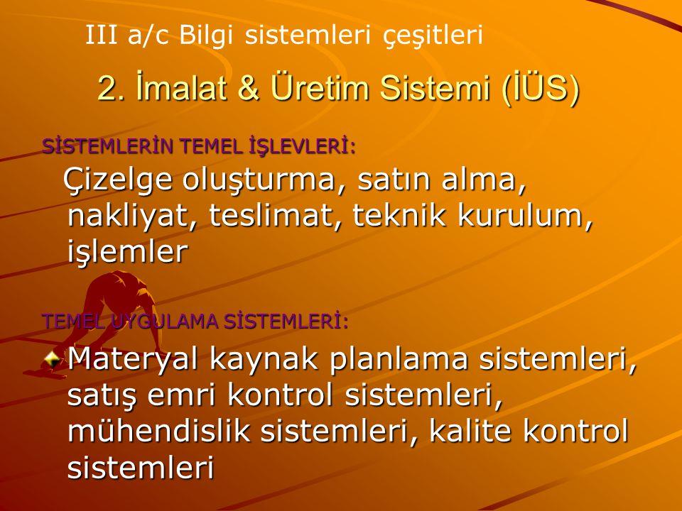 2. İmalat & Üretim Sistemi (İÜS)
