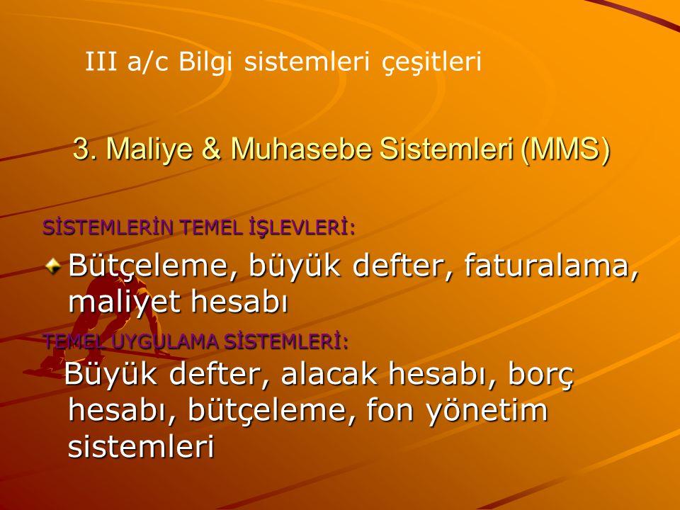 3. Maliye & Muhasebe Sistemleri (MMS)