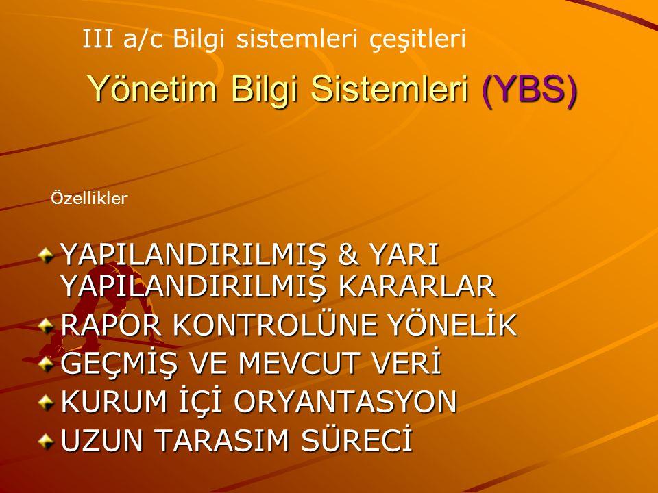 Yönetim Bilgi Sistemleri (YBS)