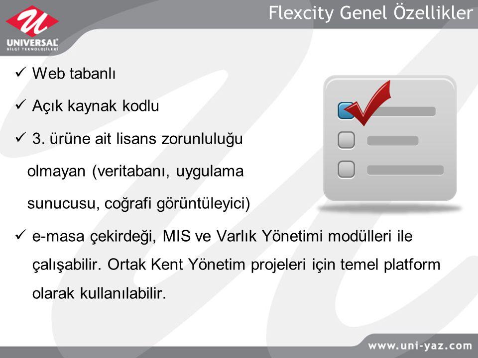 Flexcity Genel Özellikler