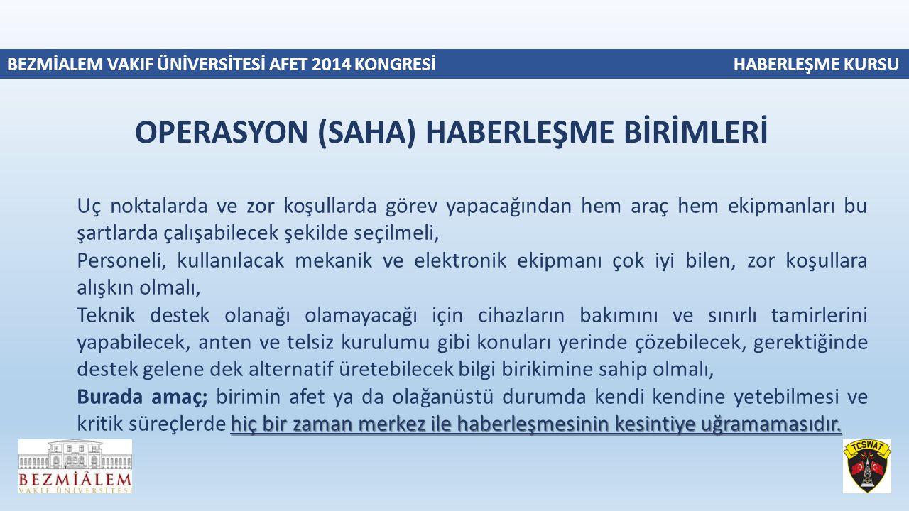 OPERASYON (SAHA) HABERLEŞME BİRİMLERİ