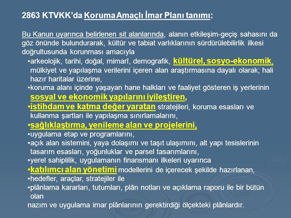 2863 KTVKK'da Koruma Amaçlı İmar Planı tanımı: