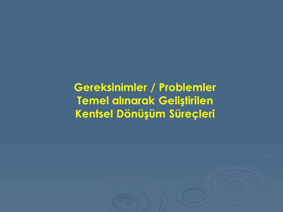 Gereksinimler / Problemler Temel alınarak Geliştirilen