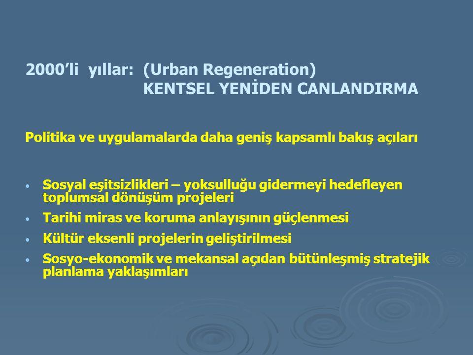2000'li yıllar: (Urban Regeneration) KENTSEL YENİDEN CANLANDIRMA