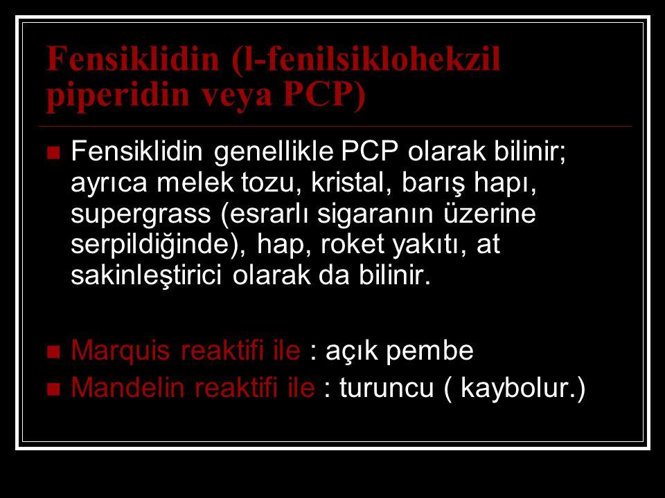Fensiklidin (l-fenilsiklohekzil piperidin veya PCP)