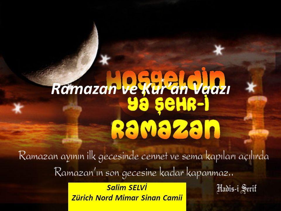 Ramazan ve Kur'an Vaazı
