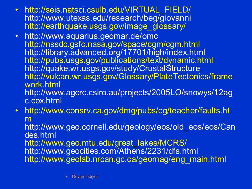 http://seis. natsci. csulb. edu/VIRTUAL_FIELD/ http://www. utexas