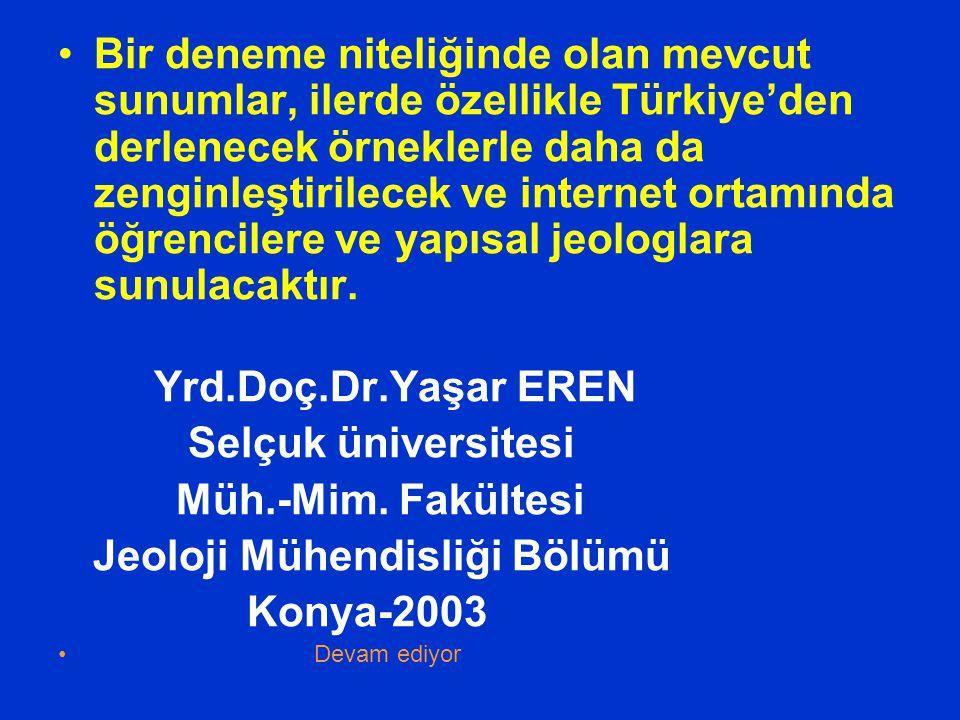 Jeoloji Mühendisliği Bölümü Konya-2003
