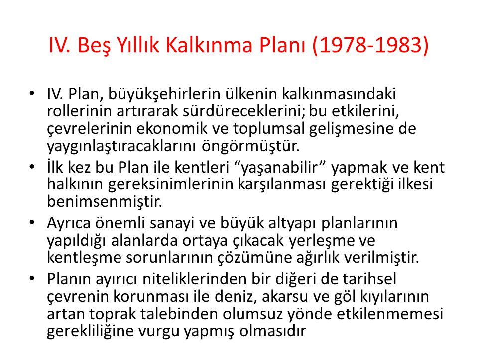 IV. Beş Yıllık Kalkınma Planı (1978-1983)