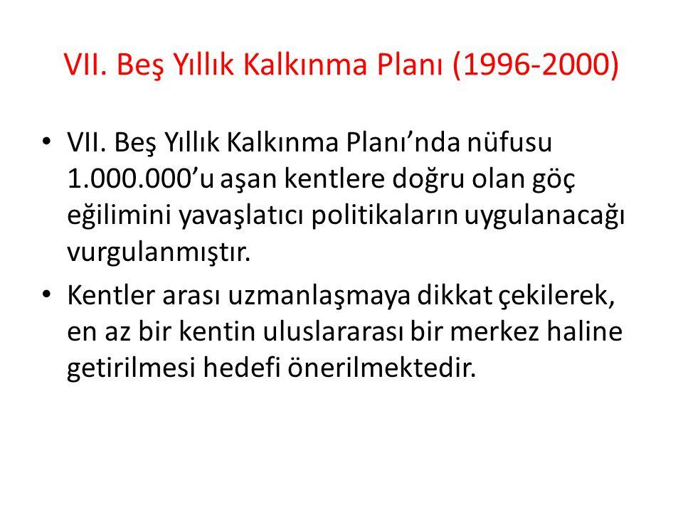 VII. Beş Yıllık Kalkınma Planı (1996-2000)