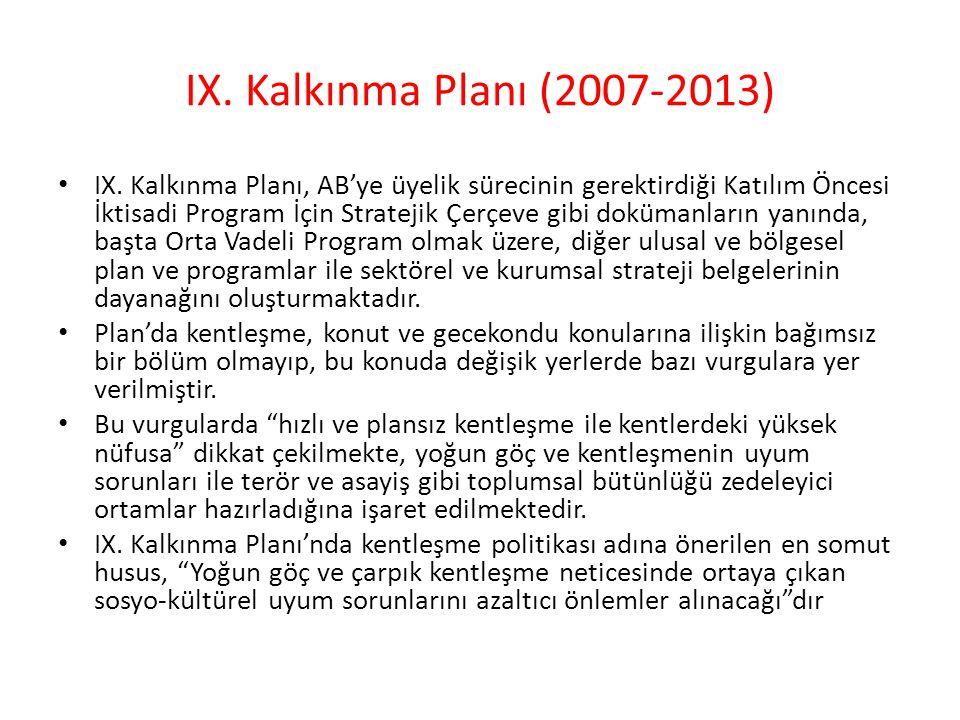 IX. Kalkınma Planı (2007-2013)