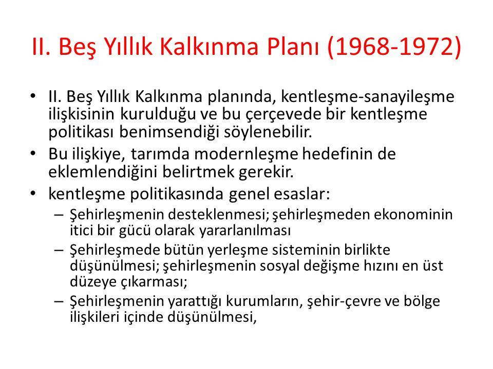 II. Beş Yıllık Kalkınma Planı (1968-1972)