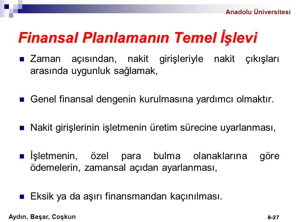 Finansal Planlamanın Temel İşlevi