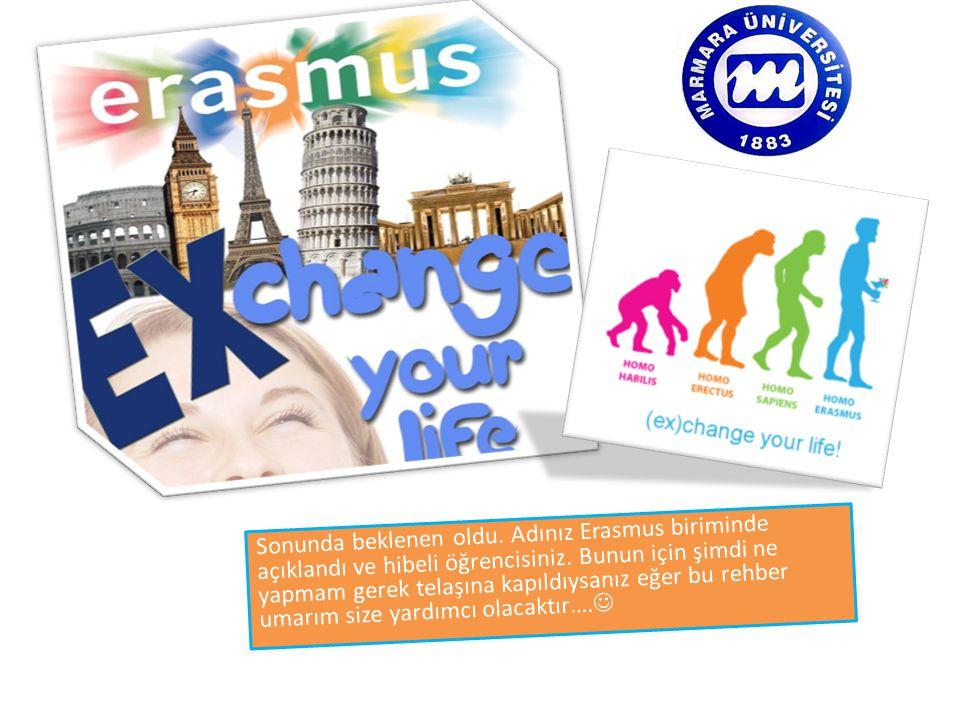 Sonunda beklenen oldu. Adınız Erasmus biriminde açıklandı ve hibeli öğrencisiniz.