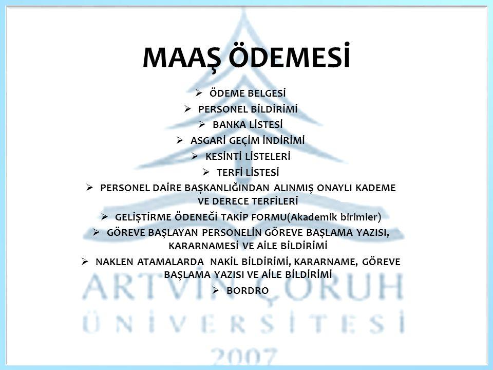 GELİŞTİRME ÖDENEĞİ TAKİP FORMU(Akademik birimler)