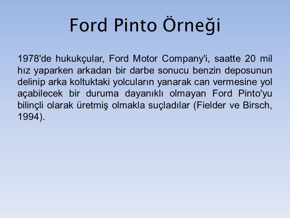 Ford Pinto Örneği