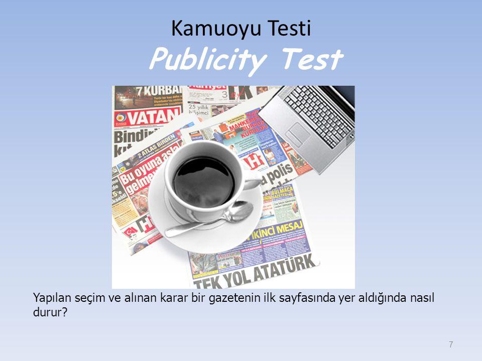 Kamuoyu Testi Publicity Test