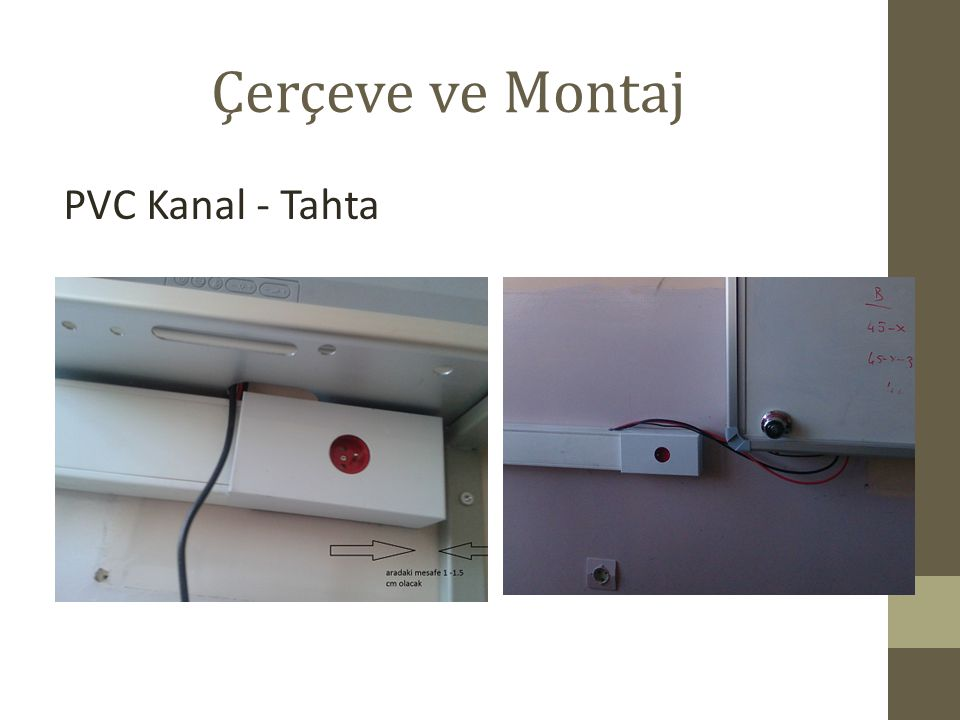 Çerçeve ve Montaj PVC Kanal - Tahta