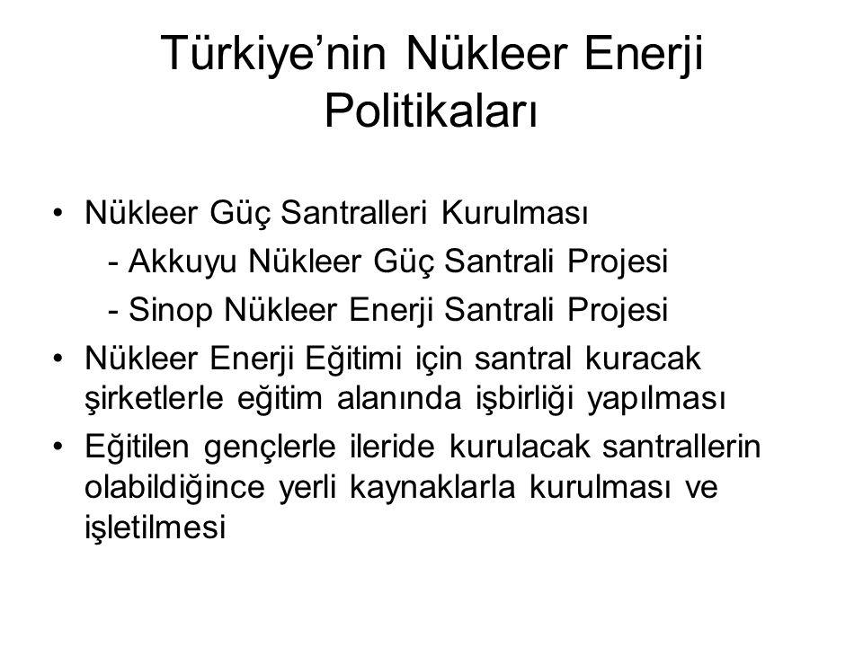 Türkiye'nin Nükleer Enerji Politikaları