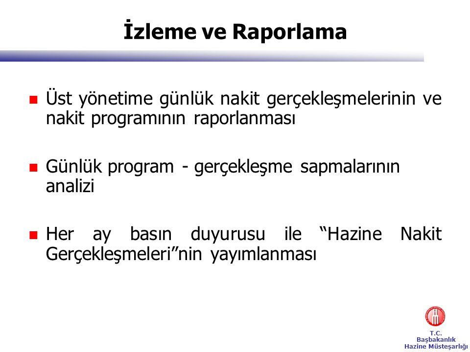 İzleme ve Raporlama Üst yönetime günlük nakit gerçekleşmelerinin ve nakit programının raporlanması.