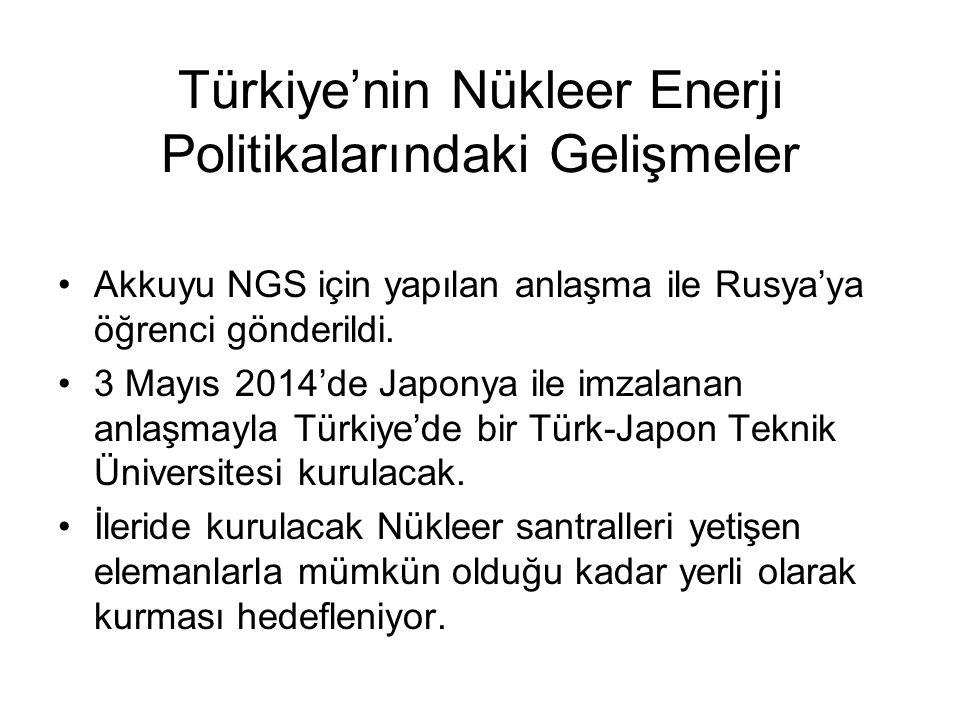 Türkiye'nin Nükleer Enerji Politikalarındaki Gelişmeler