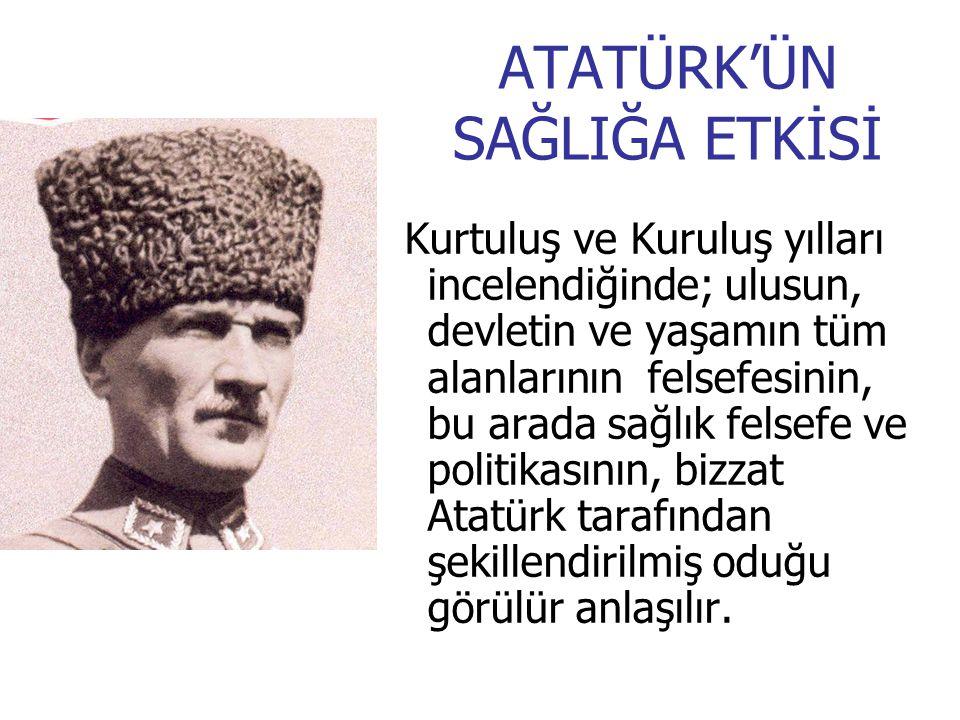 ATATÜRK'ÜN SAĞLIĞA ETKİSİ