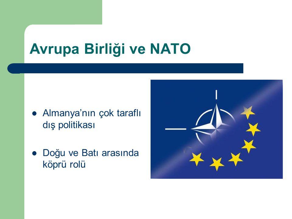 Avrupa Birliği ve NATO Almanya'nın çok taraflı dış politikası