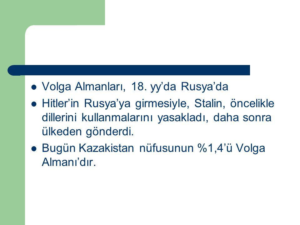 Volga Almanları, 18. yy'da Rusya'da