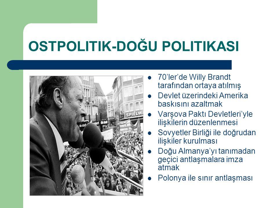 OSTPOLITIK-DOĞU POLITIKASI