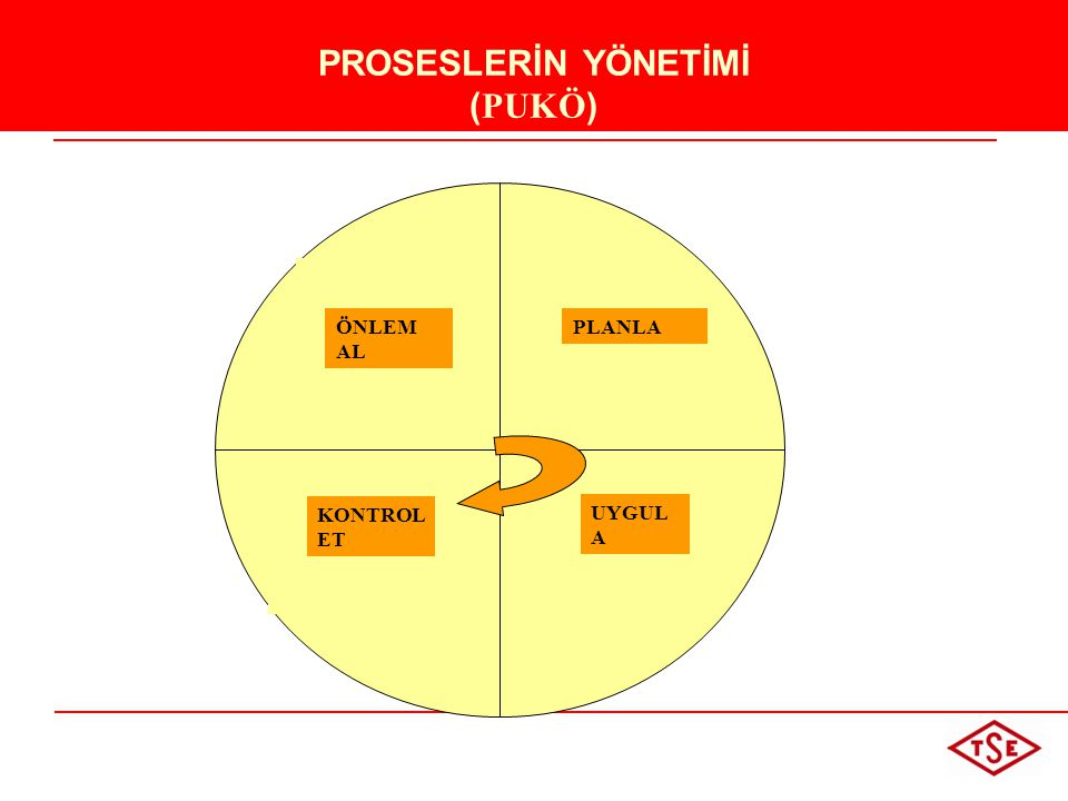 PROSESLERİN YÖNETİMİ (PUKÖ)