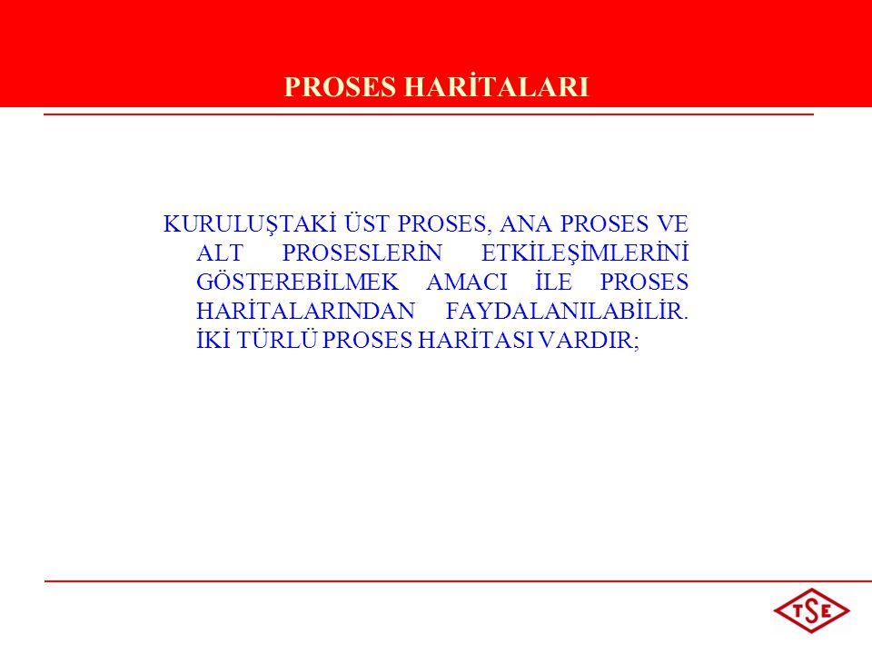 PROSES HARİTALARI