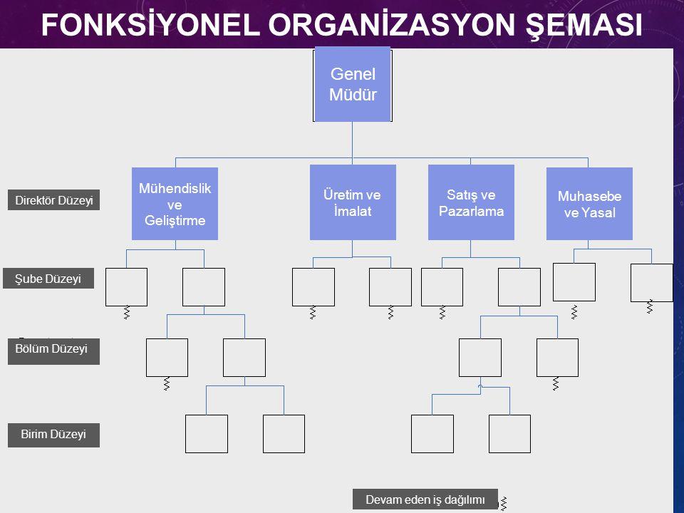 FONKSİYONEL ORGANİZASYON ŞEMASI