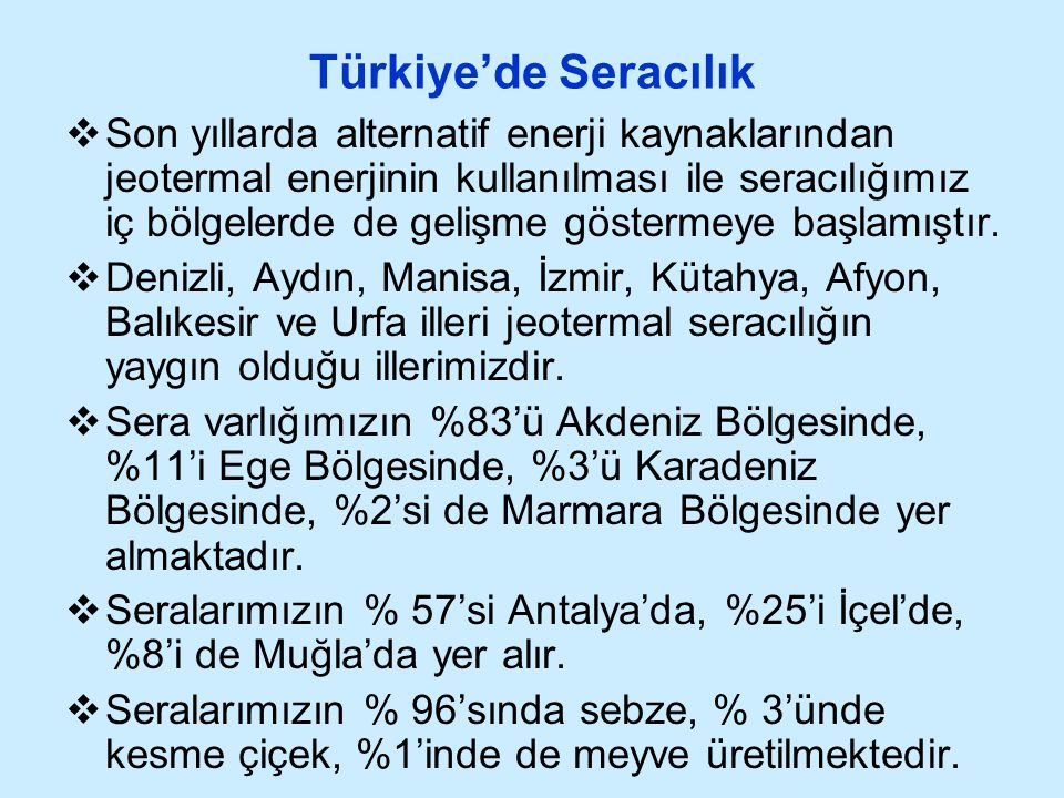 Türkiye'de Seracılık